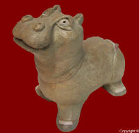 SCULPTURE hippopotame